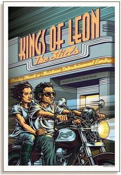 The Kings of Leon Concert Poster  at Brisbane Entertainment Center- Brisbane, Australia  March 2009  printed on nice heavy paper stock  poster measures 18.25 inches x 26.75 inches   limited edition  artist:  Daymon Greulich