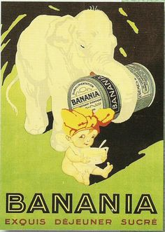 Pub retro CHOCOLAT BANANIA ELEPHANT