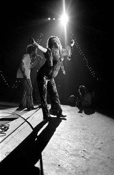 Janis Joplin at the Woodstock Festival in Bethel, N.Y., 1969.