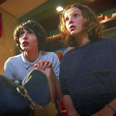 Stranger Things Mike and Eleven, Finn Wolfhard, Millie Bobby Brown, Season 3 Stranger Things Season 3, Eleven Stranger Things, Stranger Things Netflix, Millie Bobby Brown, Thats 70 Show, Dramas, Movies And Series, My People, Film Movie