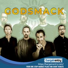 Godsmack is an American rock band. Check out the list of events, ticket, schedule and more with Bargain Entry's online ticket booking! Theater Tickets, Concert Tickets, Sporting Event Tickets, Ticket Sales, Broadway Theatre, Online Tickets, Rock Bands, Rave, American