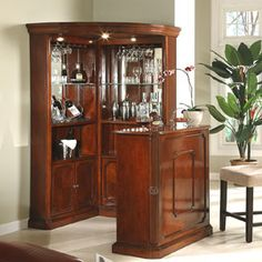 Corner Bar Unit Wine Cabinet Mini At Home Bars