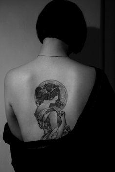 Mucha tattoo- so ethereal