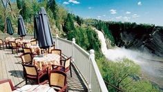 Located a few minutes from Old Quebec City, Montmorency Falls dominates the landscape with its 83 meters high! A must-see in Quebec City. Old Quebec, Quebec City, Chute Montmorency, Canada, Weekends Away, Places Ive Been, Waterfall, Beautiful Places, To Go