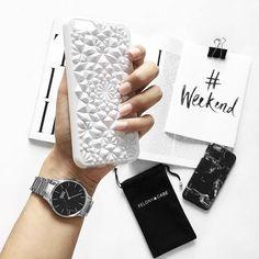 Gloss White Kaleidoscope + Black Polished Marble // 📷 @eleannore  FelonyCase.com | @felonycase | pinterest: felony_case  #phonecase #felonycase #kaleidoscope #iphone #iphone7 #iphonex #cellphonecases #iphonecases #babesofinstagram #fashion #style #lifestyle #bloggerstyle #trendy #coolstyle #instastyle #marble #holographic #iphonestyle