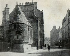 Queen Mary's Bath House near Holyrood Palace and the foot of the Canongate c1900