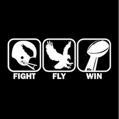 """""""Fight, Fly, Win"""" T-shirt ONLY AT http://www.barktees.com $19.99    #Birds #Philadelphia #T-shirt #Eagles #Fly #Fight #Win"""