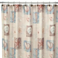 Ocean Shell 70-Inch W x 72-Inch L Fabric Shower Curtain - BedBathandBeyond.com