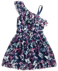 8a416a8b Epic Threads One Shoulder Butterfly-Print Dress, Toddler Girls, Epic Threads  & Reviews - Dresses - Kids - Macy's