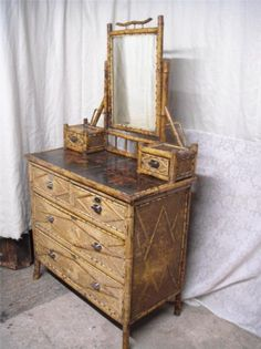 Victorian aesthetic movement bamboo dressing table chest | eBay
