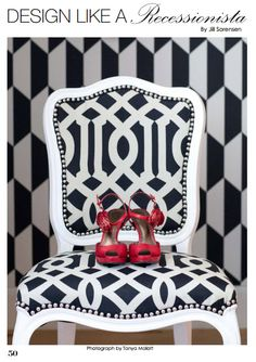 Design like a Recessionista, love Jill's tips for Live.Like.You for creating a stylish home on a budget.