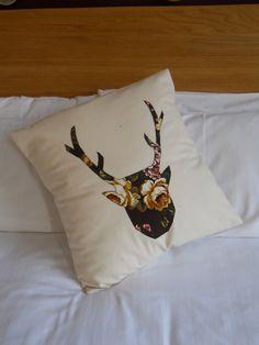 stag applique cushion