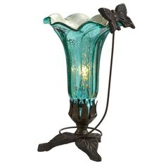 "Shop for 9"" H Hand Blown Mercury Glass Butterfly Lily Lamp. Free Shipping on orders over $45 at Overstock.com - Your Online Home Decor Outlet Store! Get 5% in rewards with Club O!"