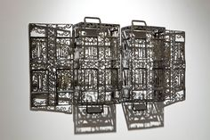Metallic Sculpture : Blowtorch Filigree: Lace Patterns Delicately Cut from Industrial Steel Objects by Cal Lane - Dear Art
