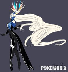 gijinka human version pokemon, xerneas
