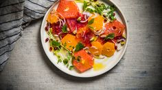 Add a splash of color to your winter dishes with this succulent citrus salad.