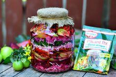 Salata de muraturi asortata - CAIETUL CU RETETE Mason Jars, Food And Drink, Healthy, Blog, Canning, Salads, Canning Jars, Glass Jars, Jars