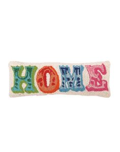 Home is where the heart is, and your heart is sure to love this adorable needlepoint pillow. The bright colors...
