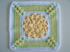 Crochet Square Patterns Ravelry: Blooming Beauty - square pattern by Melinda Miller - Crochet Afghans, Motifs Afghans, Crochet Squares Afghan, Crochet Square Patterns, Crochet Blocks, Crochet Granny, Crochet Motif, Crochet Yarn, Crochet Stitches