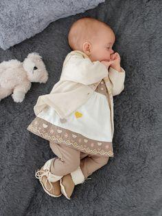 2389700259609 Ensemble  robe  gilet et  legging en  coton - Collection automne hiver 2013  - www.vertbaudet.fr