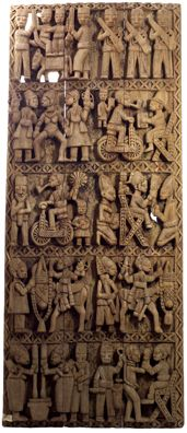 Africa |  A carved Yoruba Door from Nigeria.