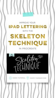 Improve your ipad lettering with the skeleton technique and a mono weight brush in Procreate Hand Lettering Tutorial, Affinity Designer, Ipad Art, Photoshop Tutorial, Improve Yourself, Videos, Creations, Tuesday, Halloween Halloween