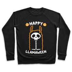 "Happy Llamaween - It's fall-ama! Show off your love of llamas and the halloween season with this funny, ""Happy Llamaween"" animal mash-up design! Perfect for a llama lover, llama humor, halloween jokes, and llama, halloween puns!"