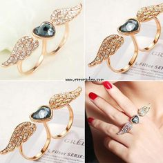 Its just awsome.... heart shaped ring with wings
