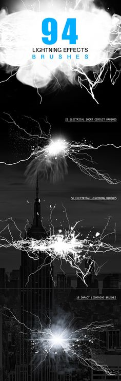 Electrical Lightning Brushes for Photoshop #design Download: http://graphicriver.net/item/electrical-lightning-brushes/4920509?ref=ksioks