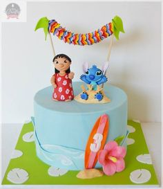Lilo & Stitch cake - For all your cake decorating supplies, please visit craftcompany.co.uk