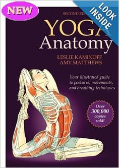 Anatomy of Yoga book. Shows the correct posture for the yoga poses and what muscle groups are used for each pose.