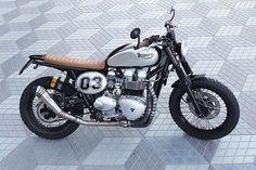 "Triumph Bonneville Street Tracker ""Pantera"" by Tamarit Motorcycles #motorcycles #streettracker #motos | caferacerpasion.com"