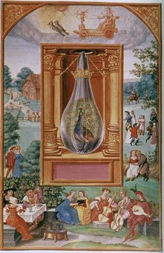 Venus: The Peacock's Tail. The Tarot-like illustrations to the Splendor Solis, a alchemical manuscript, have fascinated me for years Masonic Symbols, Book Of Hours, Human Soul, Lucid Dreaming, Medieval Art, Illuminated Manuscript, Macabre, Sacred Geometry, Occult