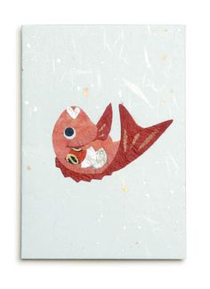 japanese paper greeting card made by onao