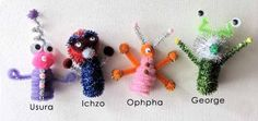 Alien Pipe Cleaners1 step 11 Cool Outer Space Crafts for Kids
