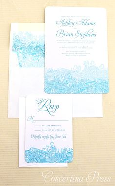 Waves Beach #Wedding Invitations - $5.99 per set