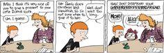 Gifting can be complicated. | Read Cul de Sac #comics @ www.gocomics.com/culdesac/2014/12/16?utm_source=pinterest&utm_medium=SocialMarketing&utm_campaign=social_post_pin | #GoComics #webcomic #holidays