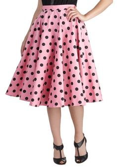 New Arrivals - Dance and Swing Skirt Modcloth - so cute! Just have to find the right fabric. Vintage Skirt, Vintage Dresses, Vintage Outfits, Vintage Fashion, Vintage Clothing, Modest Skirts, Cute Skirts, Dots Fashion, Fashion Design