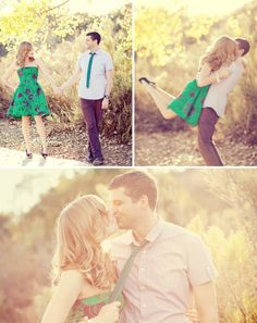 Engagement Photo Inspiration - love the colour co-ordination!