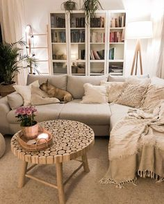 Room Inspiration Bohemian Latest And Stylish Home decor Design And Life Style Ideas How To Choose Aw Boho Living Room, Cozy Living Rooms, Apartment Living, Home And Living, Living Room Decor, Bedroom Decor, Living Room With Carpet, Cozy Apartment Decor, Cottage Living