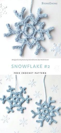 Free Crochet Snowflake Patterns, Crochet Stars, Christmas Crochet Patterns, Crochet Snowflakes, Easy Crochet, Crochet Flowers, Crochet Angels, Crochet Ideas, Beginner Crochet