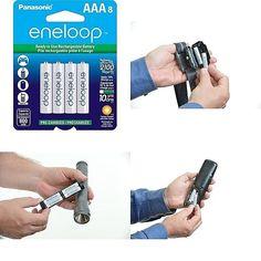 Panasonic Eneloop New AAA Ni-MH Pre-Charged Rechargeable Batteries 4 Pack Garden, Ebay, Garten, Gardens, Tuin, Yard
