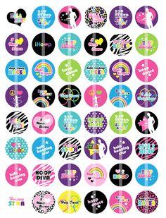 Hoop it up...hula hoop stickers.