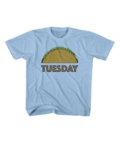 Another great find on #zulily! Light Blue 'Taco Tuesday' Tee - Toddler & Kids #zulilyfinds