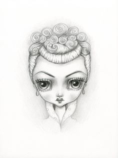 """Lucy by Lauren Saxton for Swoon Gallery's """"Muses"""" show."""