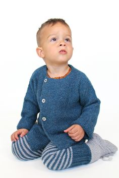 The Marin Cardigan and Pants are hand-knitted with the softest baby alpaca wool. www.mioukids.com