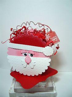 santa box & santa card punch art