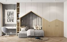 Project Wood on Behance Kids Bedroom Designs, Kids Room Design, Room Interior Design, Baby Room Decor, Dream Rooms, Interiores Design, Girl Room, Decoration, Behance
