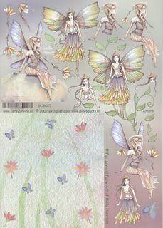 Betsy Lurvink 3D Decoupage Sheet - Fantasy & Fairy #GL6025