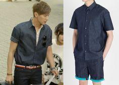 "Ji Hyun-Woo in ""Trot Lovers"" Episode 2.  Plac Jeans Denim Bonded Raw Cut Shirt #Kdrama #TrotLovers #트로트의연인 #JiHyunWoo #지현우"